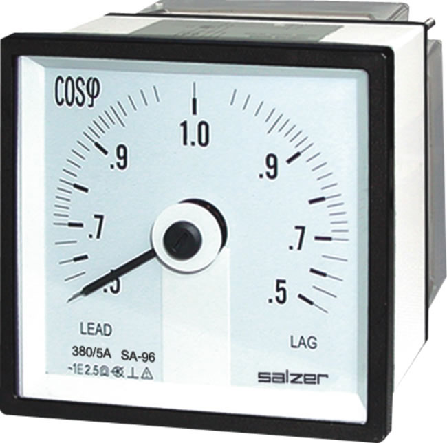 Analog Power Meter : Analog power factor meter